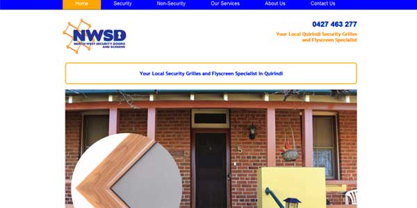 North West Security Doors web page image on Irata Web Solutions